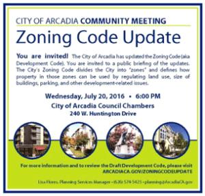 Arcadia unveiling new zoning code