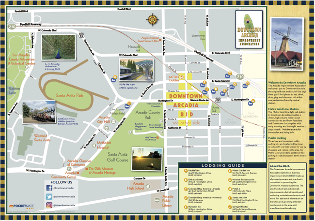 downtown arcadia map